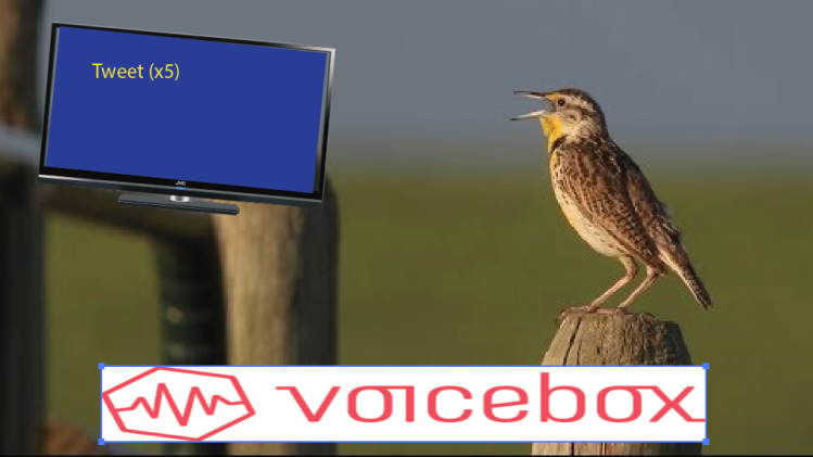 Voicebox: A cheesy cartoon aiming for a laugh, karaoke is fun, wrote it fun.